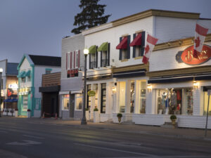Downtown Bobcaygeon seen at twilight