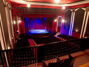 Interior of empty Academy Theatre in Lindsay